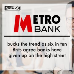 Metro Bank bucks the trend as six in ten Brits agree banks have given up on the high street