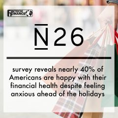 N26 survey reveals nearly 40% of Americans are happy with their financial health despite feeling anxious ahead of the holidays
